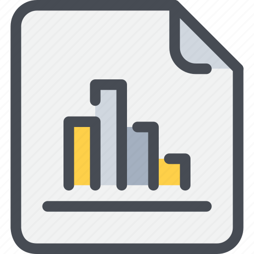 bar, data, database, document, file, paper, report icon