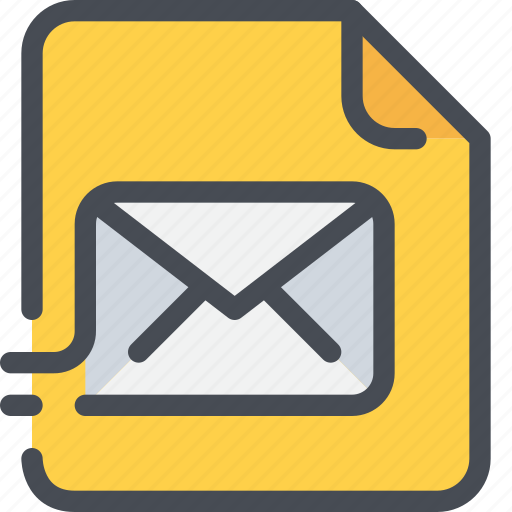 document, email, file, letter, mail, message, paper icon