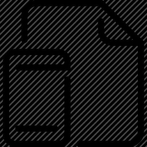 document, file, mobile, paper, smartphone icon