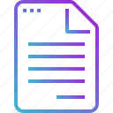 report, paper, draft, document, file icon