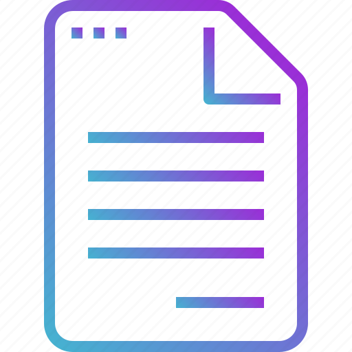 document, draft, file, paper, report icon