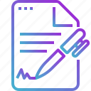 document, file, paper, pen, text, write icon