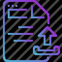 paper, document, file, upload icon