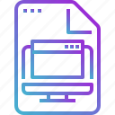 browser, computer, document, file, paper, program icon
