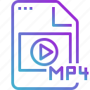 clip, file, mov, movie, mp4, video icon