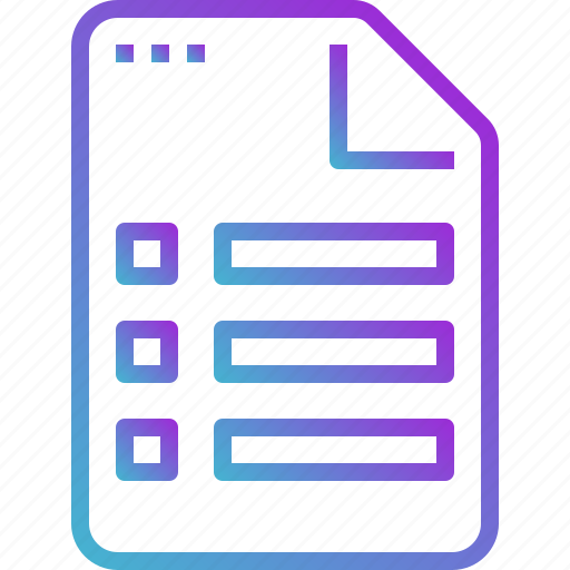 document, file, paper, report, sheet icon