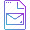 document, email, envelope, file, message, paper icon