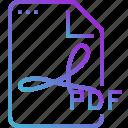 pdf, paper, data, document, file icon