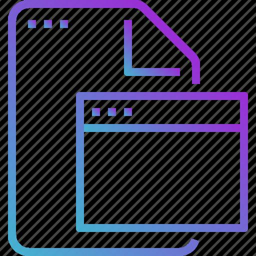 browser, file, folder, paper icon