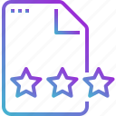 data, document, file, paper, star icon