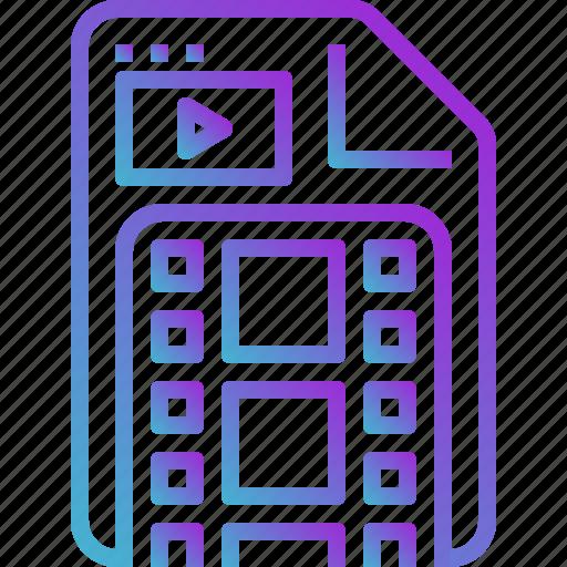 clip, file, mov, movie, video icon