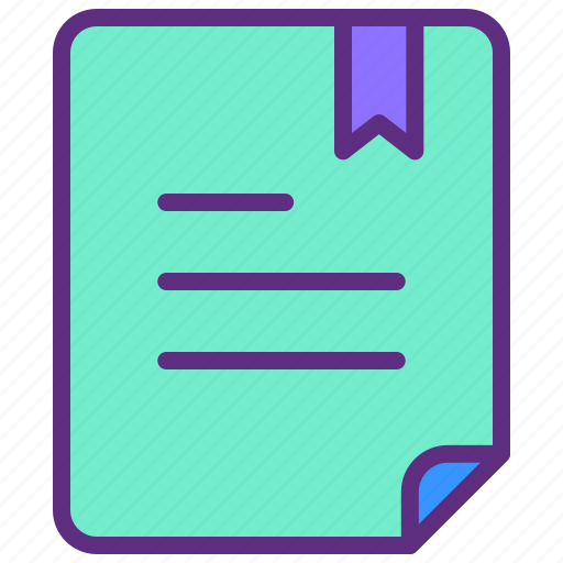 Bookmark, document, files, important, paper icon - Download on Iconfinder