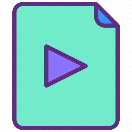 Clip, document, file, movie, video icon - Download on Iconfinder