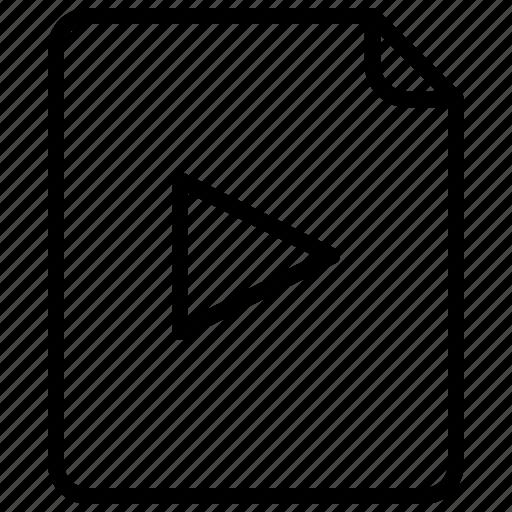 clip, document, file, movie, video icon