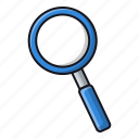 find, magnifier, media, search icon