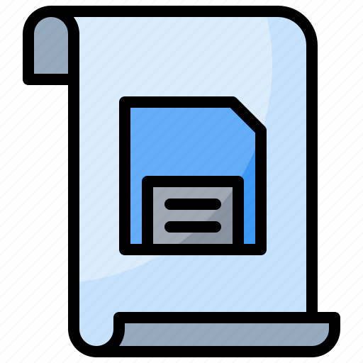 document, file, save icon