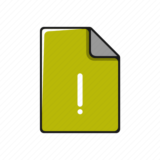 documents, error, exclamation, file, mark, page icon