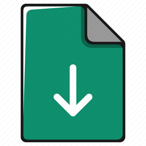 arrow, documents, down, download, file, install icon