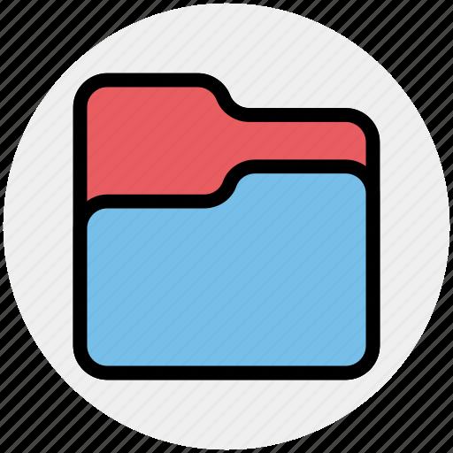 documents, empty folder, folder, folder open, office, storage icon