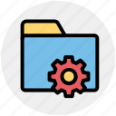 folder, gear, option, preferences, setting, setup icon