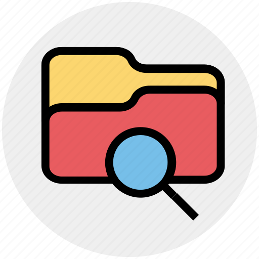 category, directory, find, folder, magnifier, search icon
