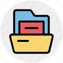 archive, documents, folder, folder open, office, storage icon