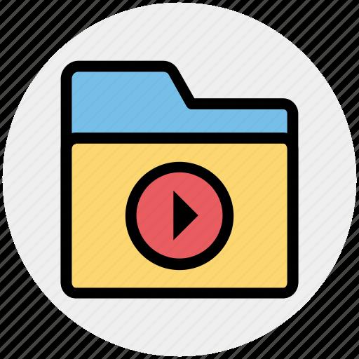audio, directory, folder, media, music folder, play icon