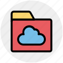 cloud, directory, files, folder, sharing icon