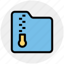 archive, compress, document, files, folder, zip icon