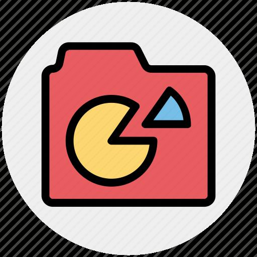chart, data, diagram, folder, graph, graphics icon