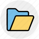 archive, documents, empty folder, folder, office, storage icon