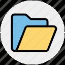 archive, documents, empty folder, folder, office, storage
