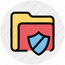 archive, file, folder, safe folder, secure, security icon
