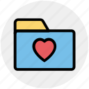 bookmark, category, favorite, folder, heart, like icon
