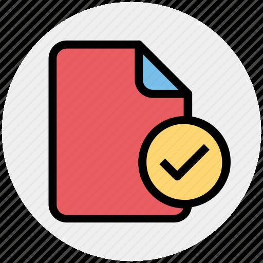 check, check file, document, file, good icon