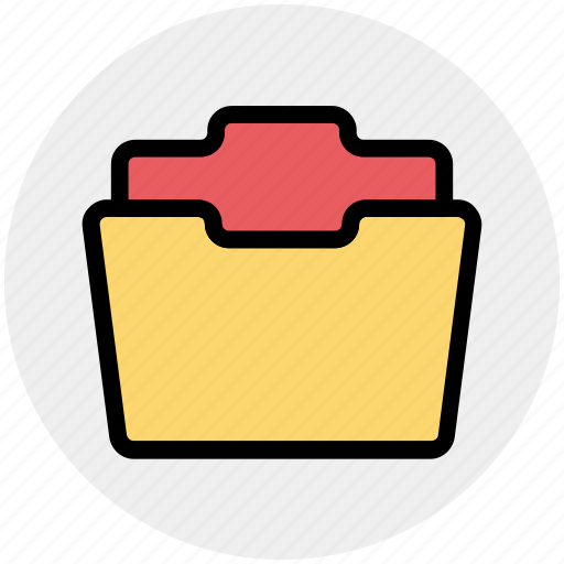 archive, documents, empty folder, folder, folder open, office icon