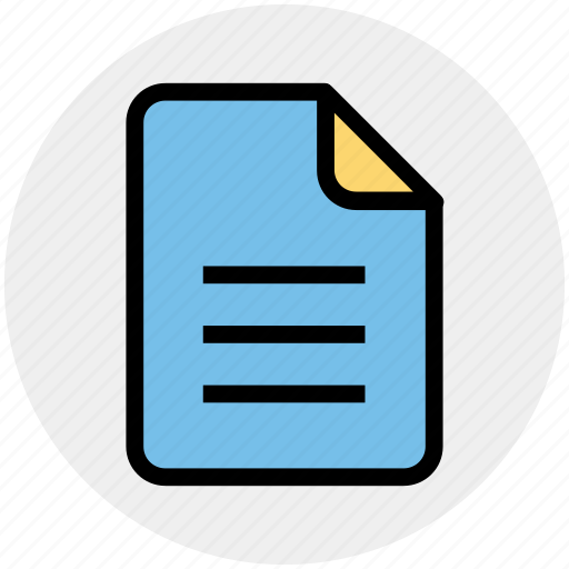 doc, document, file, list, page, paper icon