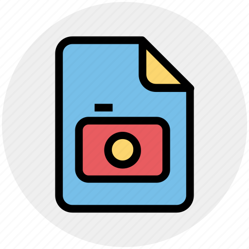 camera, file, image, paper, photo icon
