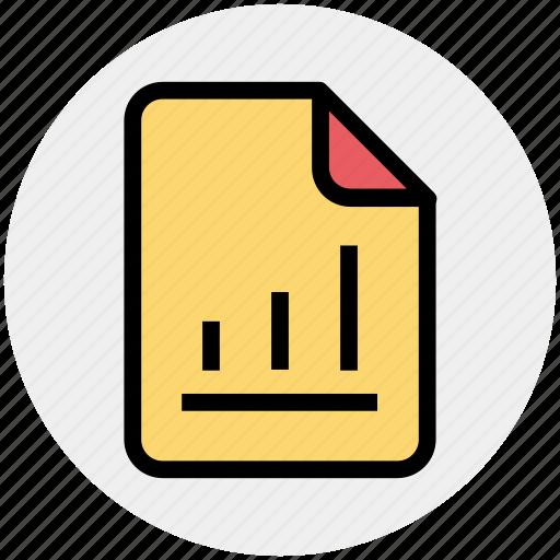document, file, graph, graph file, graph paper, paper icon