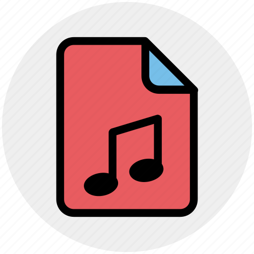 audio, document, file, media, music, play icon