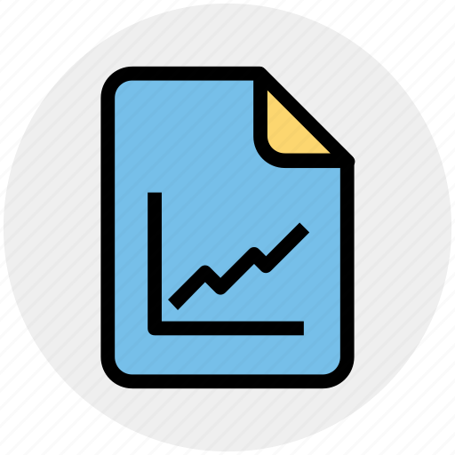 category, diagram, document, file, graph, graph paper icon