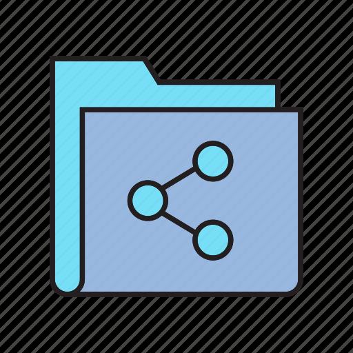 Data, document, file, folder, info, share, storage icon - Download on Iconfinder
