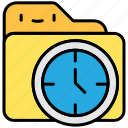 clock, file and filder, history, time, time management icon