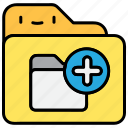 add, file and folder, folder, submit icon