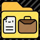 business, document, file, folder, portfolio icon