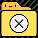 delete, document, erase, file, folder icon