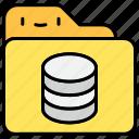 database, document, file, folder, storage icon