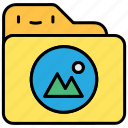 file, gallery, image, image-, photo, photo gallery icon