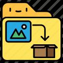 fila and filder, folder, image, shipping, storage icon