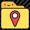 file, folder, location, pin icon